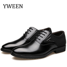 цена на Men Shoes Leather 2016 Hot Sell New Spring/Autumn Fashion business Lace-up Style Casual Men's Oxford Flat Shoe large size 38-48