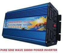 Off grid doppio display digitale 3000W dc 12V/24V/36V/48V a ac 110V/220V 50HZ/60HZ Potenza di Picco 6000W Onda Sinusoidale Pura Power Inverter
