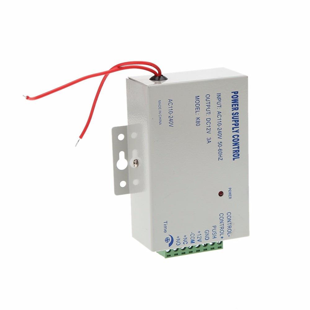 high quality 12V DC 3A AC Power supply control door access system 4pcs 12v 1a cctv system power dc switch power supply adapter for cctv system
