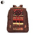 Hot Sale Women's Handmade Backpacks Wooden Beading Ladies School Bags Casual Female Vintage Velvet Travel Embroidered Bags BP368