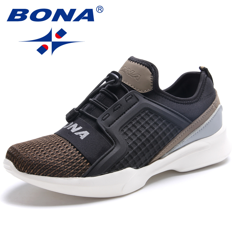 BONA New Typical Style Men Running Shoes Outdoor Jogging Sneakers Lace Up Men Sport Shoes Comfortable