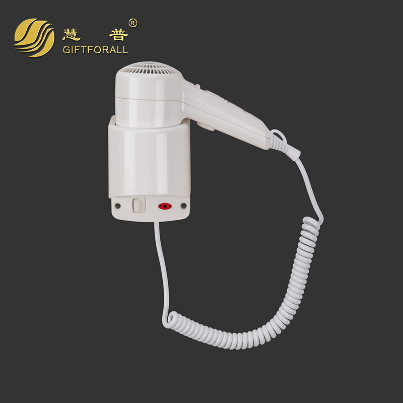 GIFTFORALL Plastic Hotel Electric Hair Dryer Wall Mount Bath Hair Drier Secador De Cabelo Wall-mounted hairdryer RCY-67300