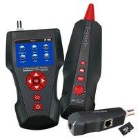 Кабельный тестер Провода трекер RJ45 RJ11 BNC коаксиальных сети цифровой кабель Длина Тестер Бесплатная TF карты STP/UTP 5e, 6e POE пинг