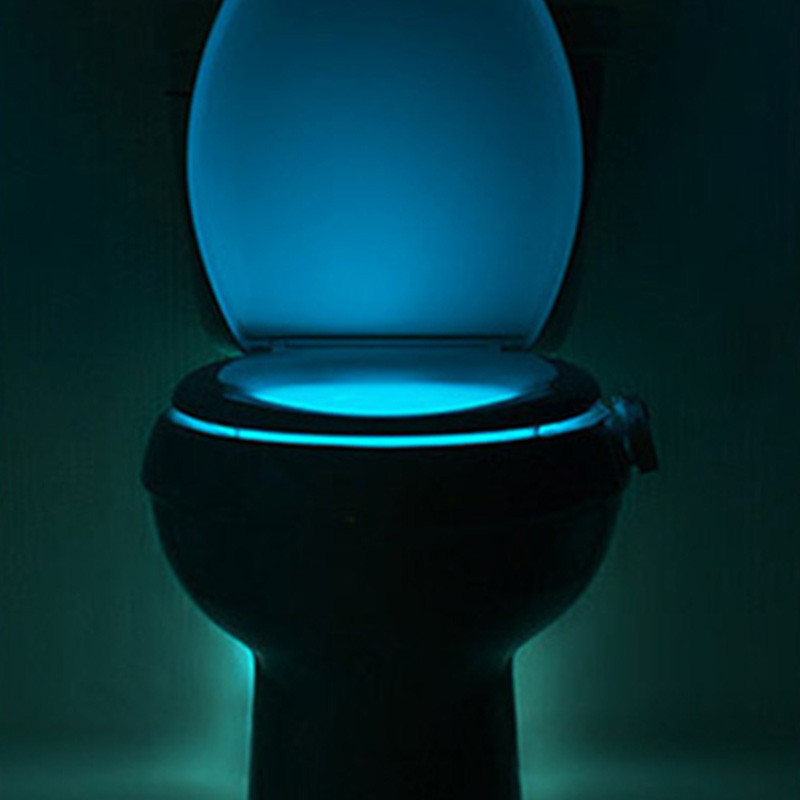 Zk30 human motion sensor automatic toilet seat led night for Bathroom night light