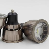 Оптовая цена, высокое Мощность светодио дный пятно света GU10 COB прожектор лампа 9 Вт белый теплый белый лампы AC85-265V светодио дный свет
