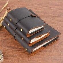 Carpeta de anillos Vintage hecha a mano cuaderno A5 Personal A7 tamaño diario planificador diario cuaderno de bocetos para dibujar papelería