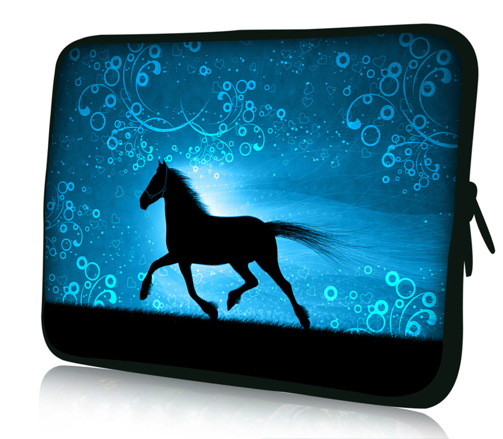 Fashion Horse laptop Sleeve Bag Dual Zipper Carrying Neoprene Case For MacBook Air 13 Retina 13.3 15.4 Pro 13.3 15.4 For Dell Hp