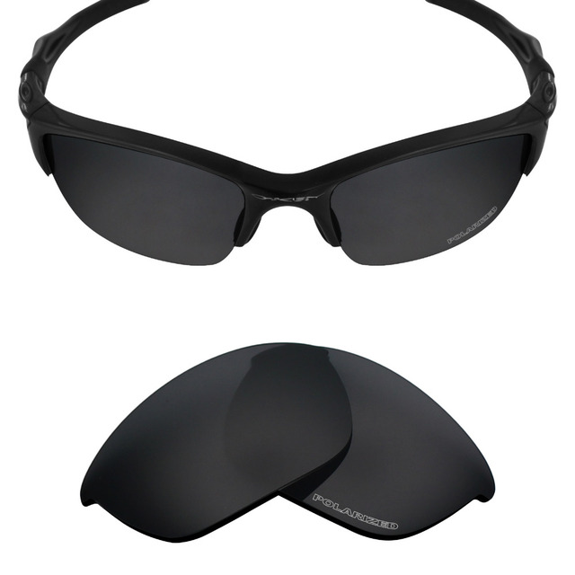 3637e87350dec Mryok+ POLARIZED Resist SeaWater Replacement Lenses for Oakley Half Jacket  2.0 Sunglasses Stealth Black