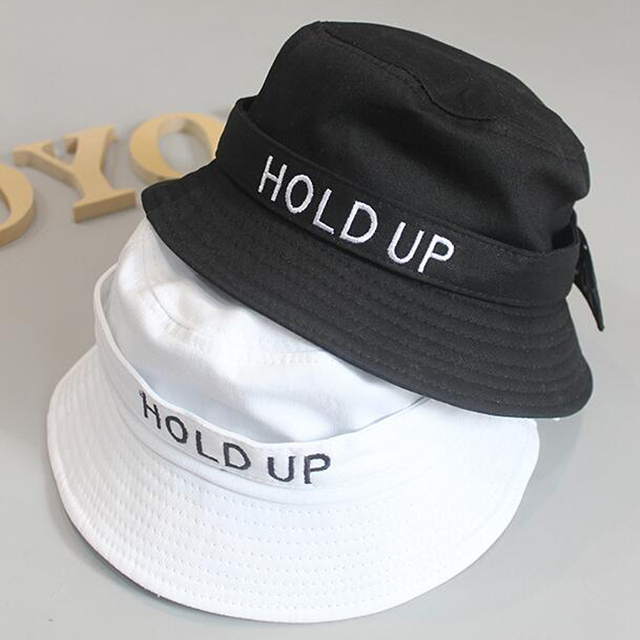 2018 New Fashion Cotton Hold UP Bucket Hat White Black Panama Fishing Cap  Boys Girls Fisherman 6c825c050a3