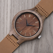 DODO DEER Wooden Male Watch Promotion Leather Private Custom Logo Wood Watches Men Quartz Accept Dropshipping A13-6