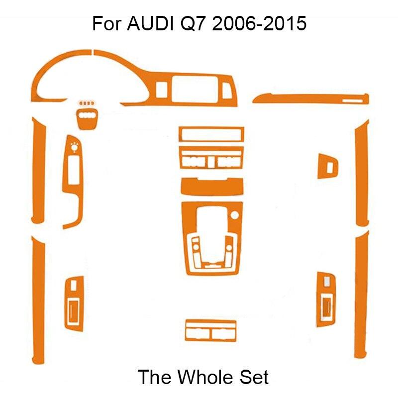 SUNFADA 3D 4D 5D Carbon Fiber Vinyl Internal Decal Stickers For AUDI Q7 4L 2006 2015