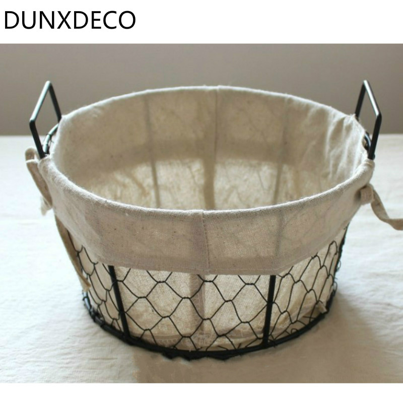 DUNXDECO Home Office Lagerung Eisendrahtnetz Obst Brot Ablagekorb ...