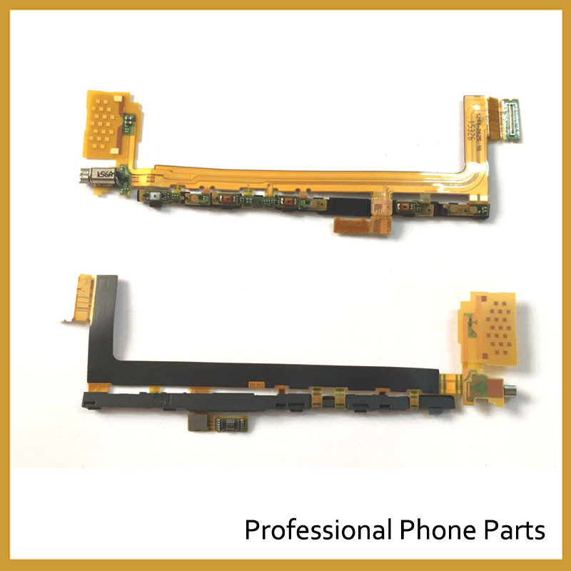 5Pcs /lot, New Power ON and OFF switch Button Flex Cable For <font><b>Sony</b></font> <font><b>Xperia</b></font> <font><b>Z5</b></font> Premium E6833 <font><b>E6853</b></font> E6883 Replacement Parts image