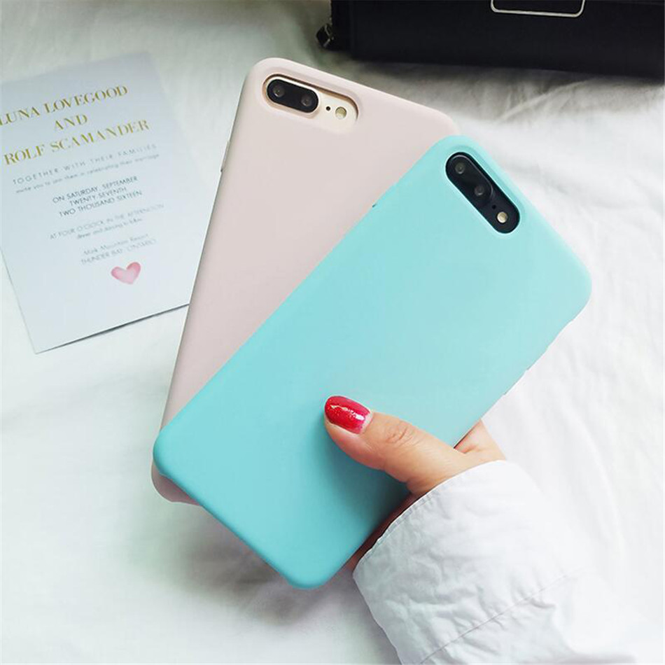 Original Silicone Case on iPhone 7 8 6 6S Plus X 5s 04