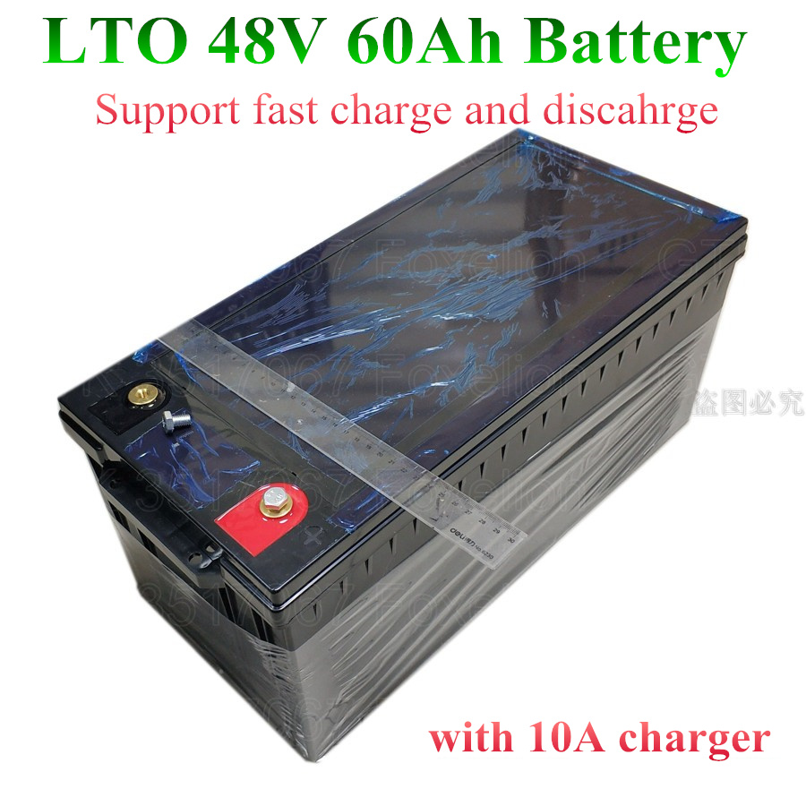 US $1470 0  LTO 48v 60AH lithium titanate Battery Pack for Boat marine  Solar panels 48v EV with BMS super Fast charge hours + 10A charger-in