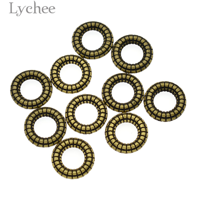 Lychee 10pcs/lot Alloy Resin Gear Shape Hair Braid Dread Dreadlock Beads Cuffs Clips Headwear Accessories Hair Jewelry