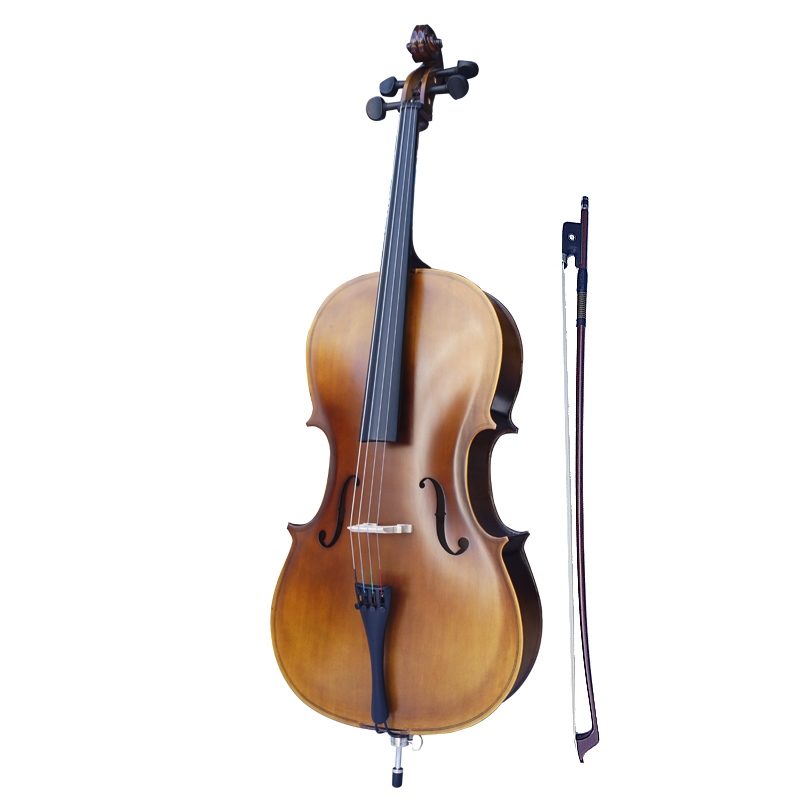 TONGLING Matt Plywood Cheaper Cello Full Size 4/4 4/3 1/2 1/4 High Quality Antique Style Beginner Cello 4 4 cello case full size cello accessories composite material high strong light &strong two wheels more color