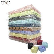 240 шт., подарочные коробки для ювелирных изделий, дисплей 4*4*3 см, разные цвета, кольцевая коробка, маленькие подарочные коробки