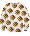 Hombres de las mujeres de Big Mac Crewneck Atractiva Suda la famosa rad de hamburguesa con queso hamburguesa de comida rápida Jumper Casual Tops 3d tire