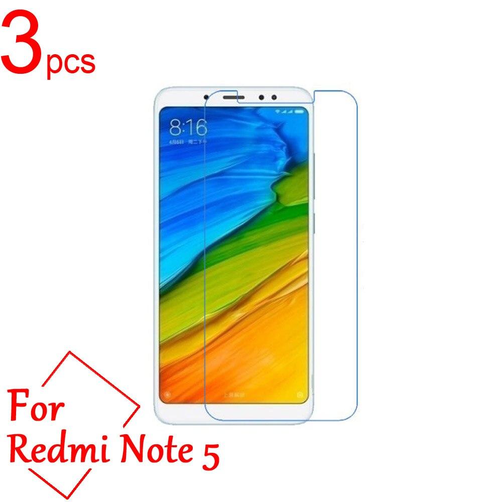3pcs Clear/Matte/Nano anti-Explosion LCD Screen Protector Cover For Xiaomi Redmi note 5 pro Ai Dual Camera 5.99 Protective Film