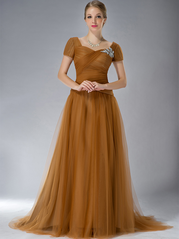 Copper Mother of the Bride Dress