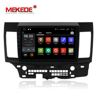 Mekede M518 pure Android 7.1 Quad Core 2GB RAM 4G wifi bluetooth car GPS navigation for MITSUBISHI LANCER 2008 2015 MIC Gift