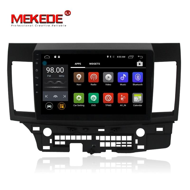 Mekede M518 pur Android 7.1 Quad Core 2 GB RAM 4G wifi bluetooth voiture de navigation GPS pour MITSUBISHI LANCER 2008-2015 MICRO cadeau