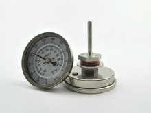 """Bi-metal Thermometer 3"""" Dial Analog homebrew beer thermometer Weldless Kit 2"""" Probe 0-220 Degrees"""