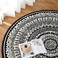 Ins, хлопковый черно белый ковер для гостиной, геометрический плед, Дания, ковёр в богемном стиле, современный коврик для йоги, дизайн для дете