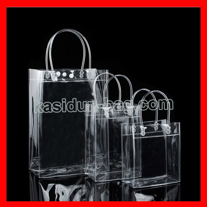 100pcs lot wholesale waterproof clear shopping bag pvc