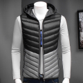 7XL6XLmen wear sleeveless jacket winter fashion leisure coat plus-size hooded cotton-padded clothes menvest thickening waistcoat