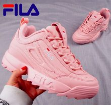 7ba662f829d9 Fila Disruptor II 2 Sneaker Running Shoes black white Big sawtooth Thick  bottom increased Man Low