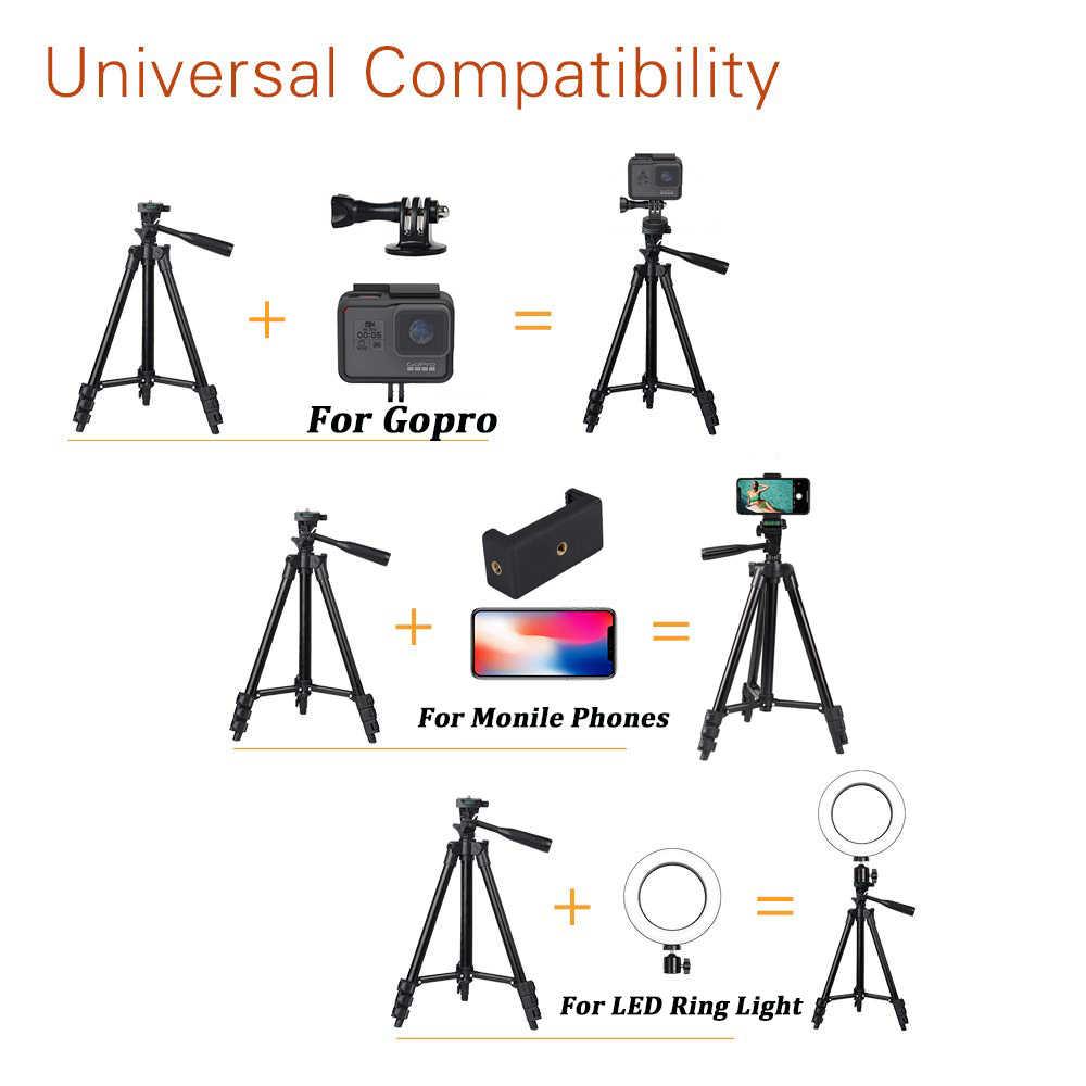 โทรศัพท์มือถือขาตั้งกล้อง 40 นิ้วการถ่ายภาพสำหรับGopro iPhone Samsung Xiaomi Huaweiโทรศัพท์อลูมิเนียมTravel Tripode Para