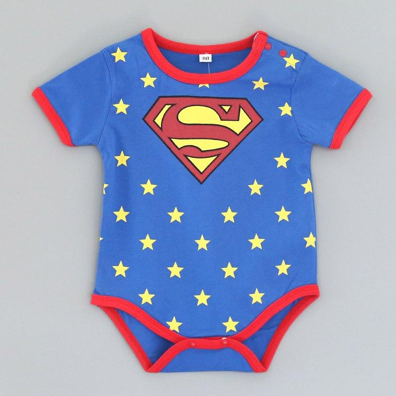 HTB18UvEkOMnBKNjSZFoq6zOSFXa1 2018 Summer Newborn Baby Girl Clothes Cartoon Baby Boy Rompers Spiderman Batman Unisex Baby Rompers Cartoon Animal Clothing Set