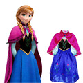 Retail new girls dress 2017 Elsa & Anna princess dress girls birthday dress children's European and American fashion dress