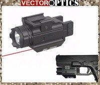 וקטור אופטיקה טקטי אקדח 200 Lumens פנס עם לייזר אדום אייה קומבו לגלוק 17 19 סמית אנד וסון נשק אור