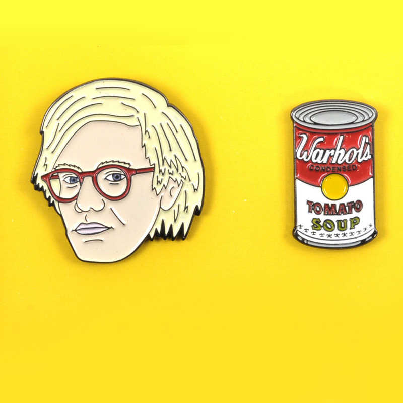 ANDY WARHOL Twin Juego De Pines Badgeเข็มกลัดLapel Pin Set