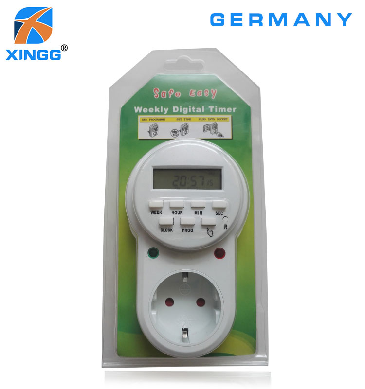 EU Russian Electronic Smart Digital Timer outlet  220V 16A 7 Day 12 24 Hour Programmable Timing Socket Kitchen Fish Timer
