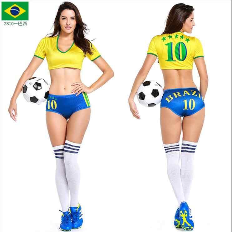 ... 2018 Football Baby Cheerleader Costume Sexy Cheerleading Women Football  Sexy Sports Costumes Germany Argentina Spain Brazil ... e8c3a79add
