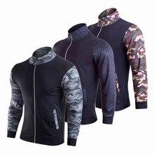 766e83613 CALOFE Men's Long Sleeve Sweatshirt Camouflage PrinT Men Football Tracksuit  Soccer Sweater Training Suit Zipper Jogging