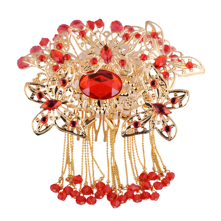 Wedding Vintage Style Hair Accessories: Orient Brides Hair Accessories Butterfly Comb Hair Jewelry