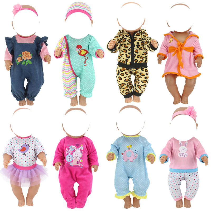 Dolls Clothes Set 18inch Baby Doll Cloth New Born Doll Accessory Baby Girl Toys