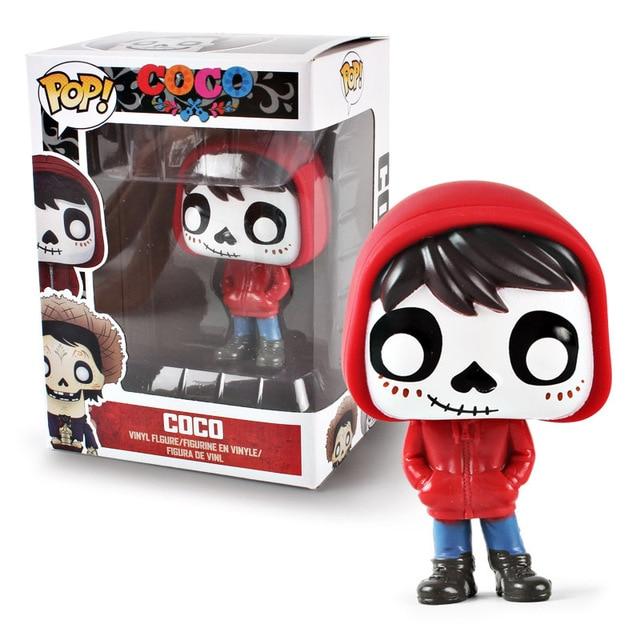 Funko pop Movie Coco Pixar Miguel Action Figure Toys Collectors Miguel/Hector&De La Curs pvc Action Figure Model toy for kids 2