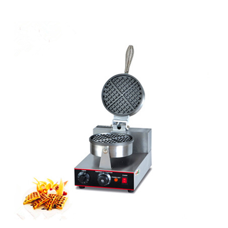 Stainless steel single pan automatic waffle maker