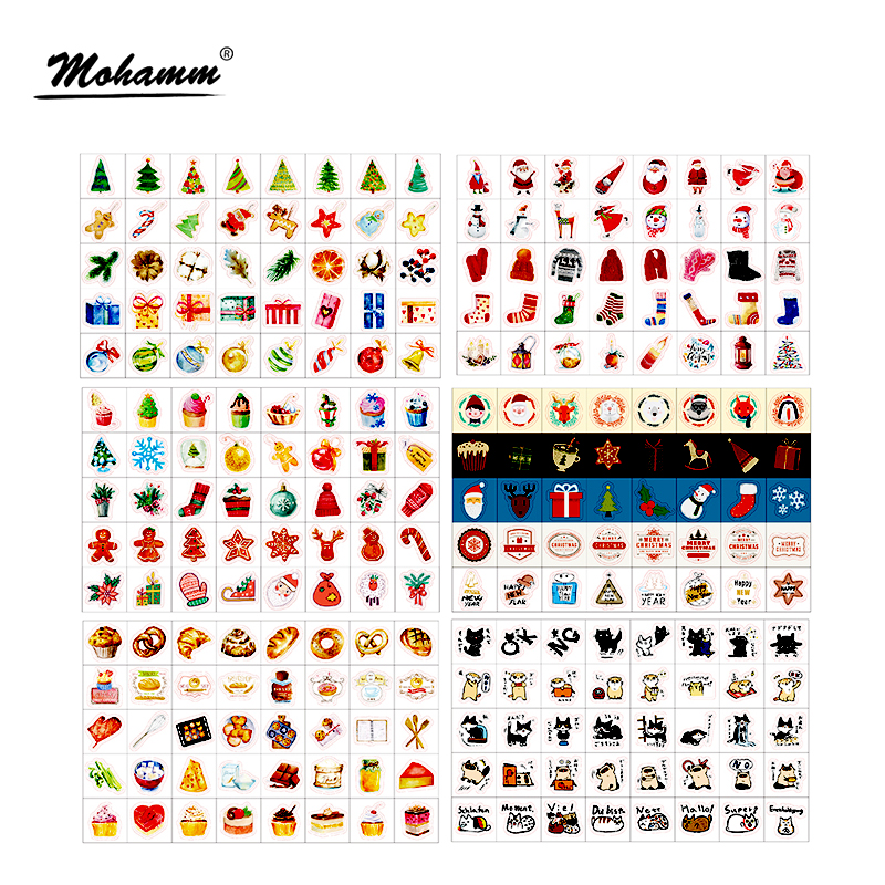 40Pcs/box Christmas Paper Stickers DIY Post It Scrapbooking Decoration Diary Lable For Kids Child Gift Kawaii Stationery 38 pcs box merry christmas paper sticker decoration diy diary scrapbooking sealing sticker kawaii stationery child diy toy