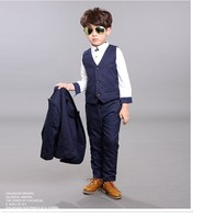 2018 new arrival fashion boys 3PCS blazers boy suit for wedding boys formal suits spring gray/blue dress wedding boy suits