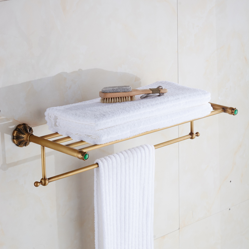 Bath Towel Shelves Towel Bar bath shelf Luxury Towel shelf antique ...
