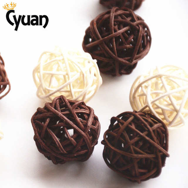 Decorative Rattan Balls Beauteous Cyuan 30Pcslot Diameter 5Cm Wedding Decorative Rattan Ball Rattan Inspiration Design