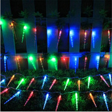 6m 40 led fairy lights battery operated icicle led christmas string lights home wedding xmas party decoration - Led Christmas Icicle Lights