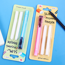 1 Set Utility Knife Shape Eraser Scalable Refills Pencil Rubber Erasers Two Replace Refills Student Stationery Supplies